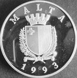 マルタワールドカッププルーフ銀貨 西暦1993年