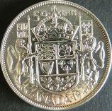 カナダ銀貨 西暦1946年
