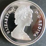 カナダプルーフ銀貨 西暦1984年