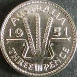 オーストラリア銀貨 西暦1951年