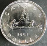 カナダ銀貨 西暦1951年