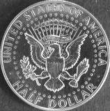 ケネディ1/2ドル銀貨  西暦1968年