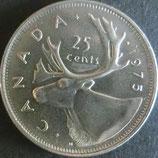カナダ銀貨 西暦1975年