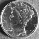 マーキュリー10セント銀貨 西暦1943年