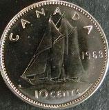 カナダ銀貨 西暦1968年