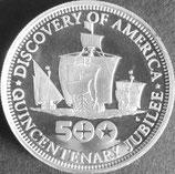 アメリカコロンブスプルーフ銀貨 西暦1992年