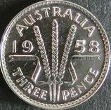 オーストラリア銀貨 西暦1953年