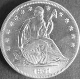 アメリカコイン 西暦1861年