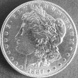 モルガン・ダラー銀貨 西暦1887年