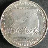 憲法制定200年記念銀貨