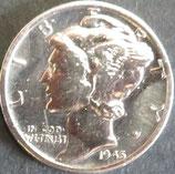 マーキュリー銀貨 西暦1945年