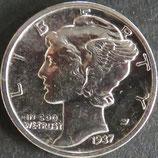 マーキュリー銀貨 西暦1937年