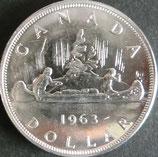 カナダ銀貨 西暦1963年