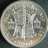 半クラウン銀貨 西暦1937年