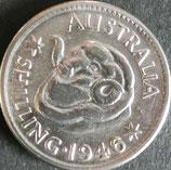 オーストラリア銀貨 西暦1946年