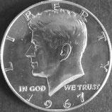 ケネディドル銀貨 西暦1967年