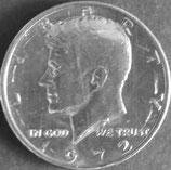 ケネディ1/2ドル  西暦1972年