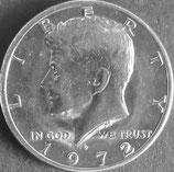 ケネディ50セント銀貨 西暦1972年