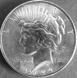ピース1ドル銀貨   西暦1922年
