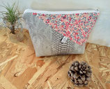Trousse de toilette grise et liberty wiltshire rose #8