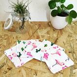 Lingettes lavables Cactus et flamands roses #3