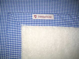 Teddyfelldecke Vichy blau-weiß, 100% Baumwolle