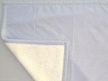 Teddyfelldecke Vichy grau-weiß, 100% Baumwolle
