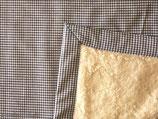 Teddyfelldecke Vichy braun-weiß, 100% Baumwolle