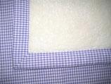Teddyfelldecke Vichy lila-weiß, 100% Baumwolle