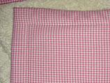 Teddyfelldecke Vichy rosa-weiß, 100% Baumwolle