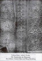 Die Stuckdecke im Rittersaal des Johann Kasimir-Baus auf der Burg Breuberg
