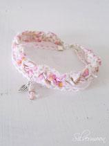 Armband Textil, Spitze, rosa, beige