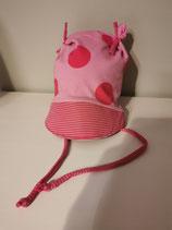 """Ohrenmütze  mit Schirm """"pink dots"""" in Gr. 50-54"""