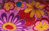 Cord Blumen Reststück 145x100 cm