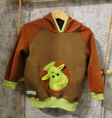 "Sweatshirt ""Drache"" in Gr. 92 terracotta/braun"
