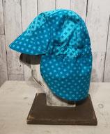 Sommermütze mit Schirm und Nackenschutz in Gr. 54