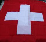 Fahne Schweiz, genäht