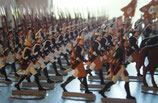 ZINN1 Secondhand Konvolut bemalte Flachfiguren,  7 jähriger Krieg