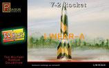 PEGASUS 8416 V-2 Rocket (Snap together) Plastikbausatz für eine V-2 Rakete 1:48
