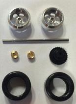 Hinterachs-Tuningkit für Carrera D132 Fahrzeuge mit originalen Carrerareifen