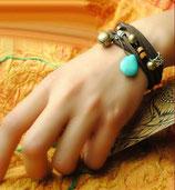 Bracelet etnik pierre turquoise