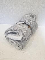 Decke mit Fleece blau 100% Baumwolle