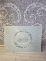 """Postkarte """" Glückwünsche für Dich... """""""