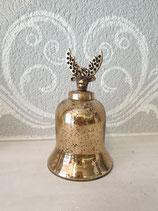 Weihnachtskugel Glocke mit Kopf Gold