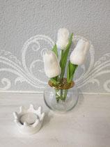 Vase mit abnehmbarem Aufsatz rund
