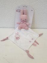 Kuscheltuch Miffy rosa