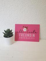 """Postkarte """" Für die allerbeste Freundin überhaupt """""""