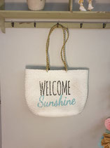 "Korbtasche ""Welcome Sunshine"""