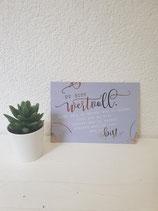 """Postkarte """" Du bist Wundervoll.. """""""