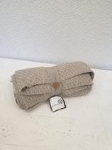 Decke dünn beige/weiss 100% Baumwolle
